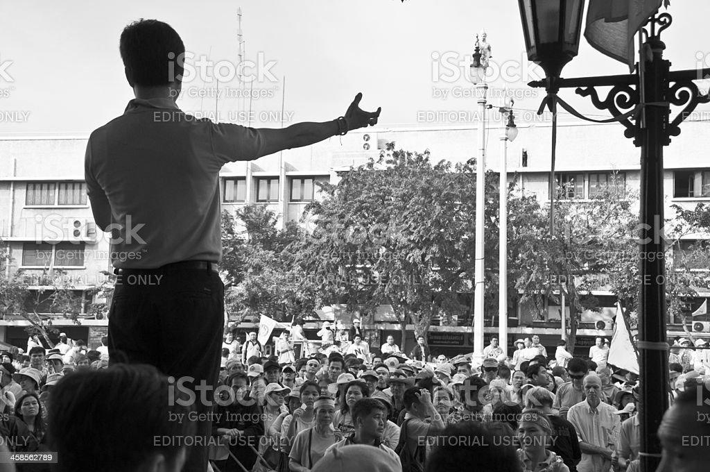 UDD Protest In Bangkok, Thailand royalty-free stock photo