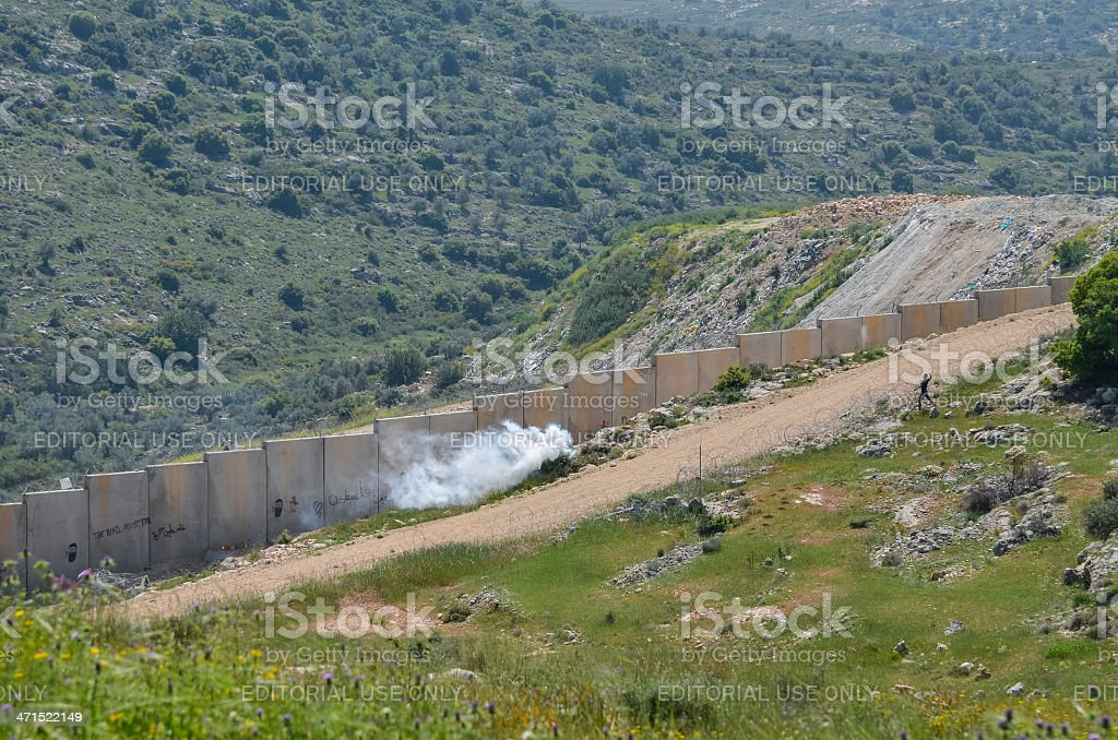 Protest in Palestine royalty-free stock photo