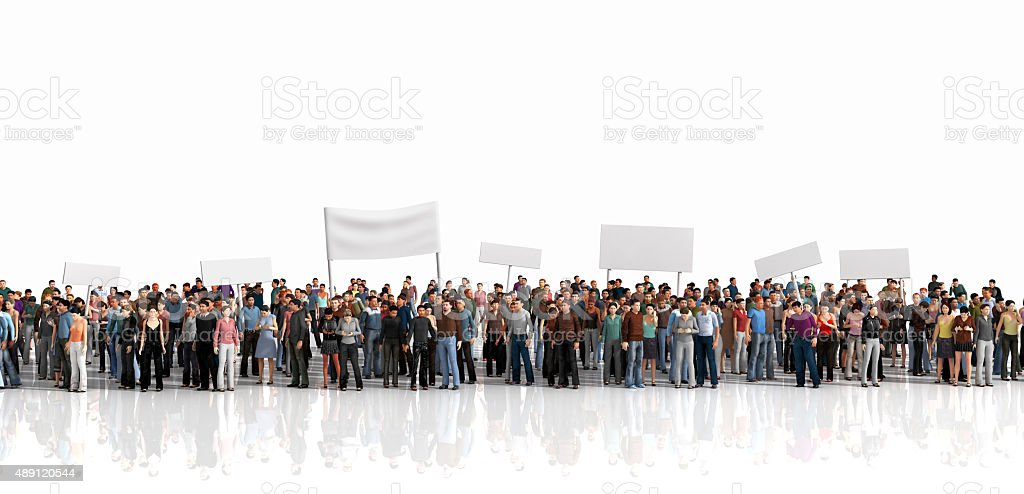 Protest of crowd. stock photo