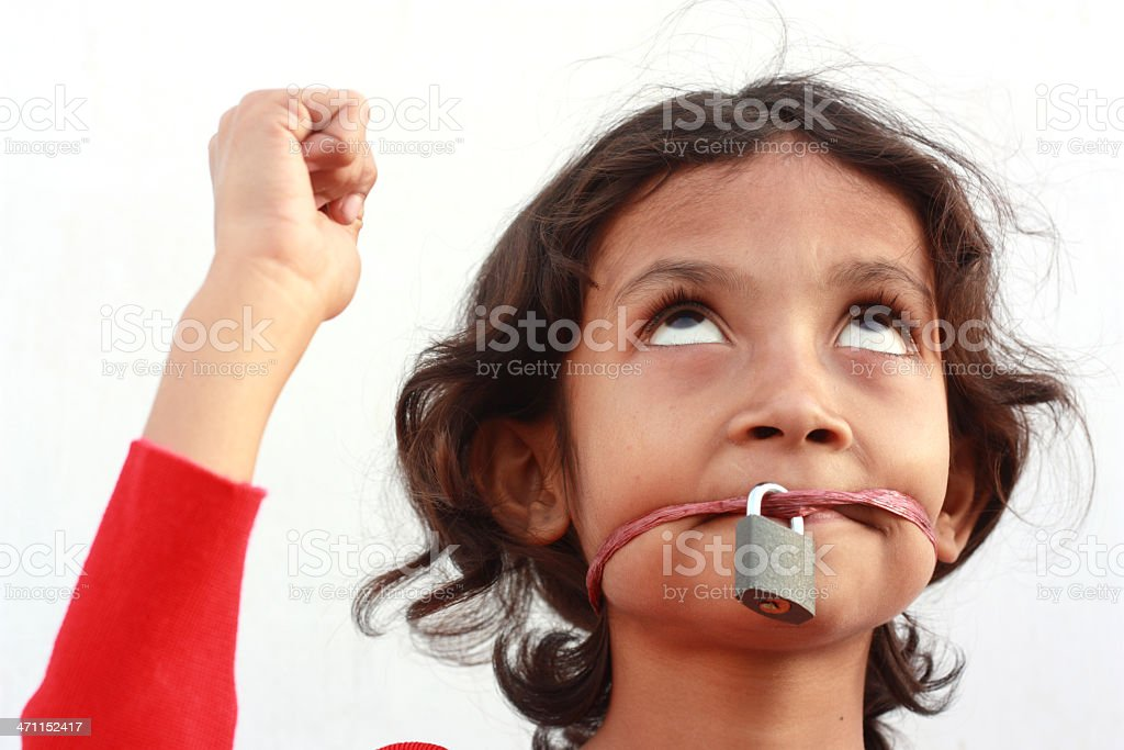 Protest royalty-free stock photo