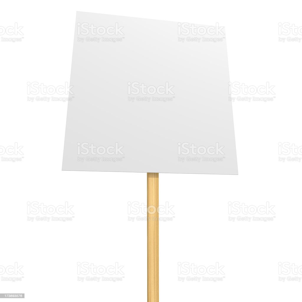 Protest Placard royalty-free stock photo