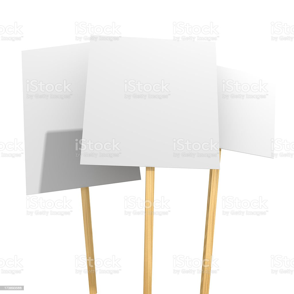 Protest Placards stock photo