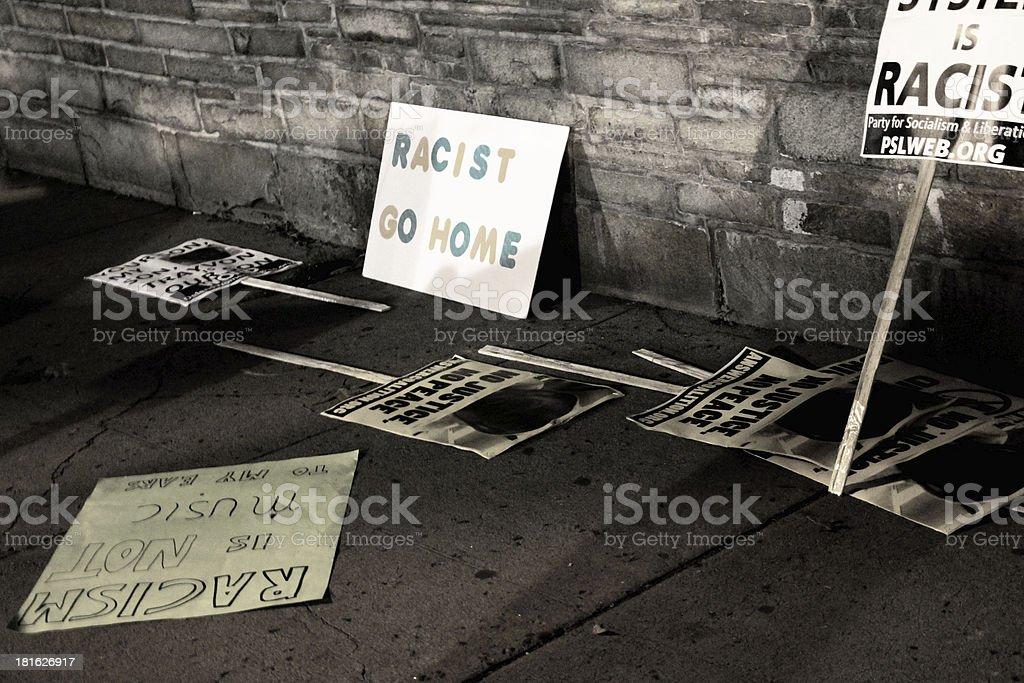 protest slogans stock photo