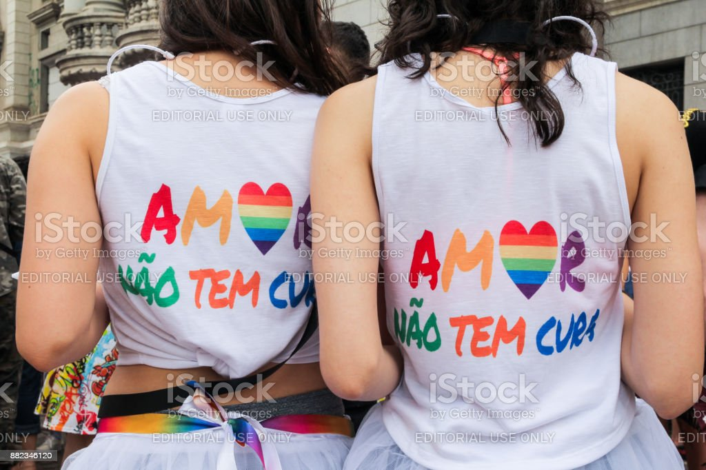 protest with irreverence about medical treatment for homosexuals, known as Gay Cure stock photo