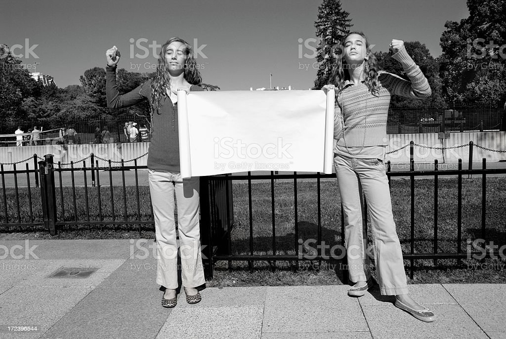 Protest - You Decide stock photo