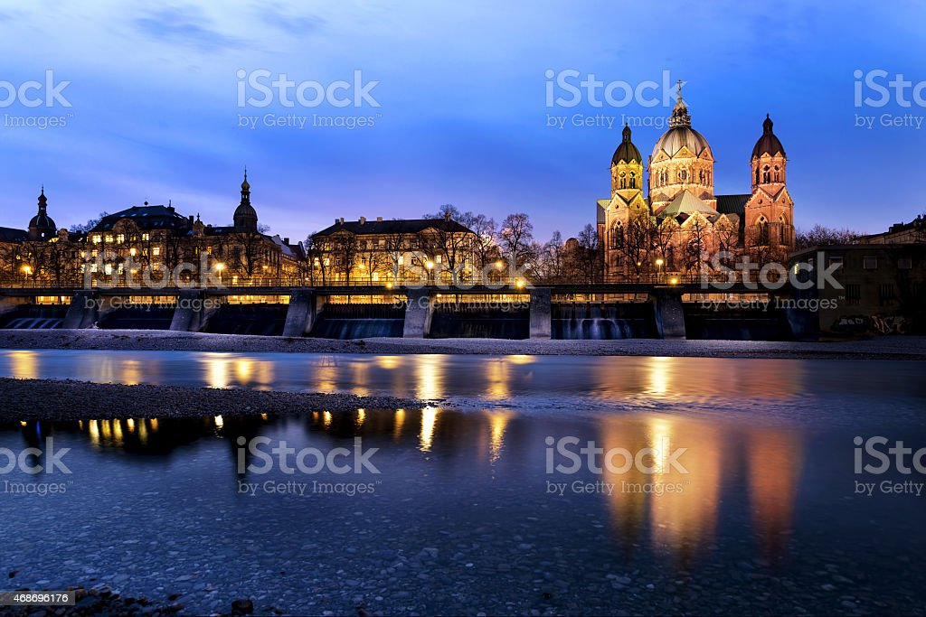 Protestant church in Munich, Germany stock photo
