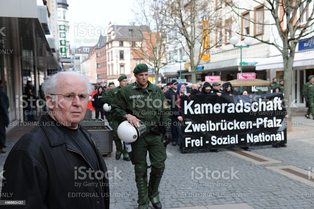 Protester captured by Police stock photo