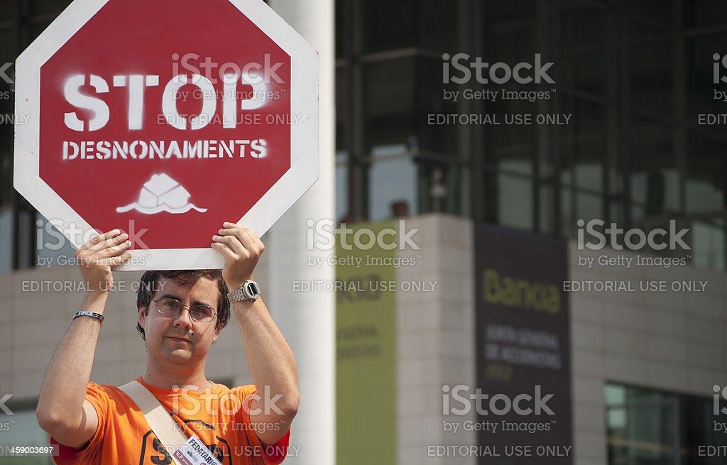 Protester - foto de stock