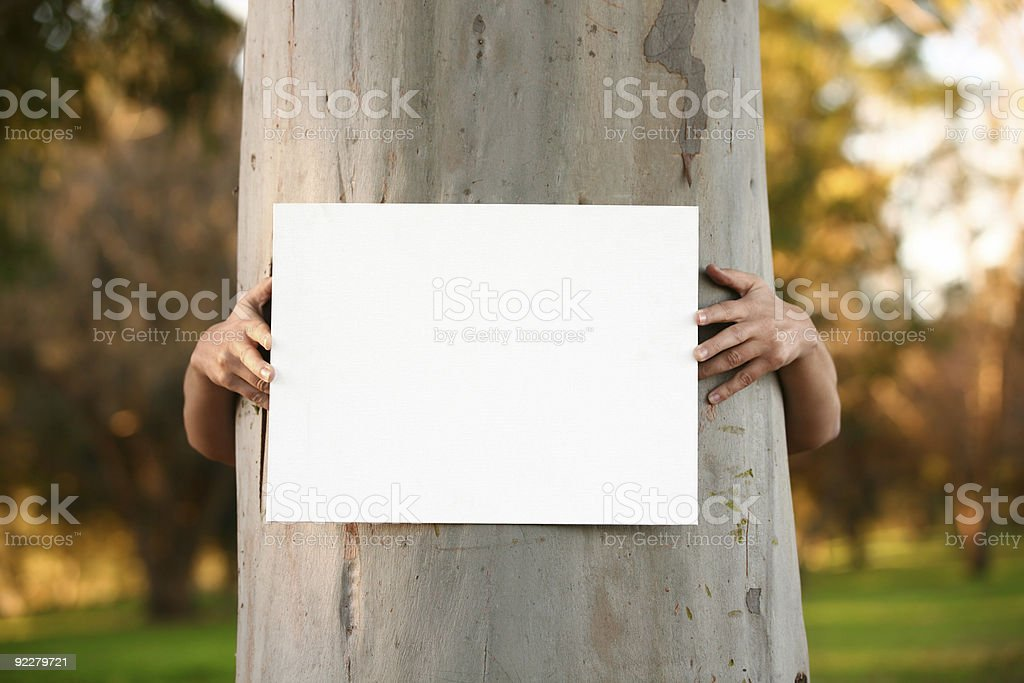 Protester with Sign royalty-free stock photo
