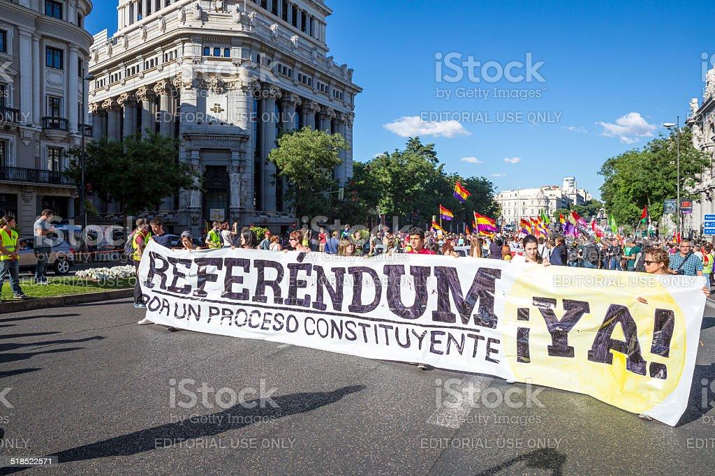 protesters en Espagne - Photo