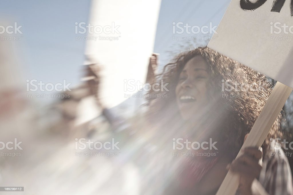 Protesters stock photo