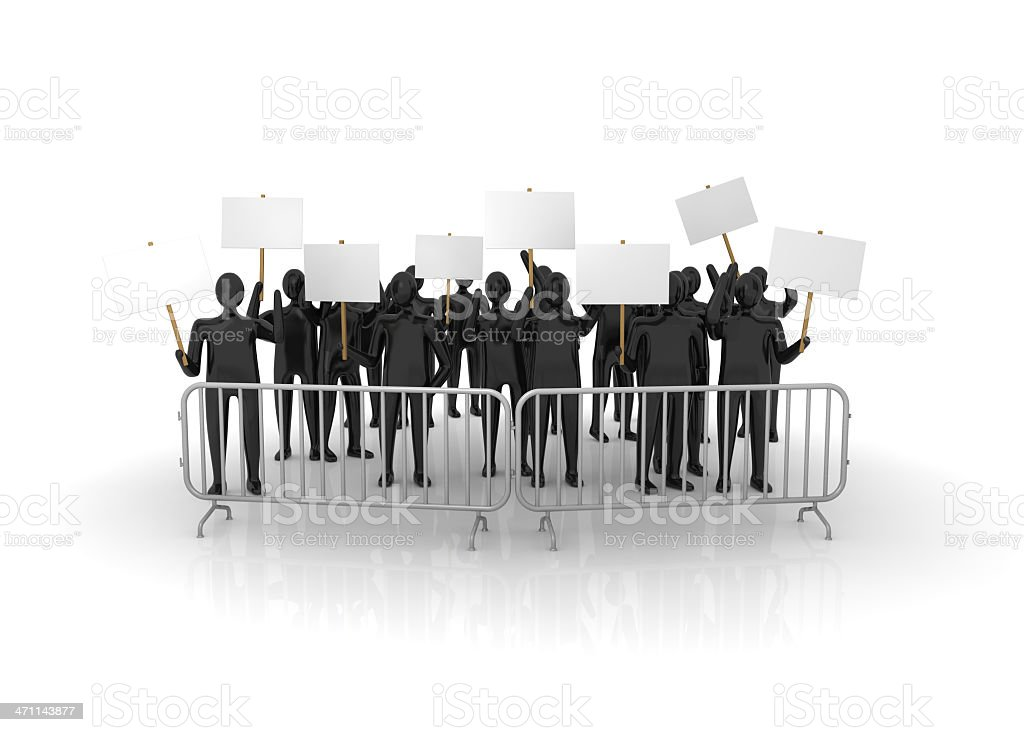 Protesters royalty-free stock photo