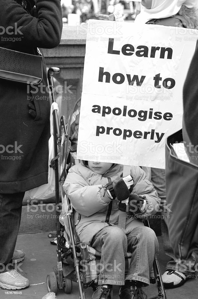 Protesting in a Pram royalty-free stock photo