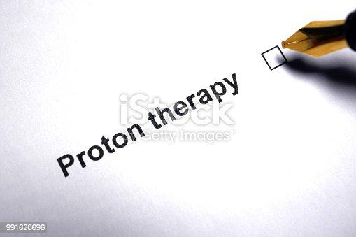 Proton therapy - therapeutic medical procedure
