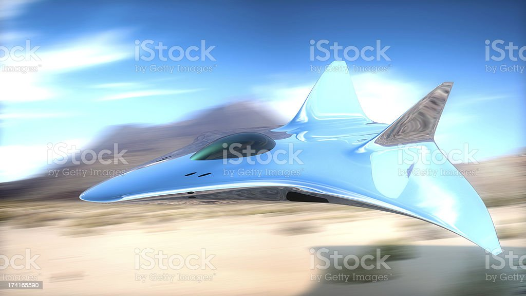 Prototype Fighter Plane In 3d Stock Photo - Download Image