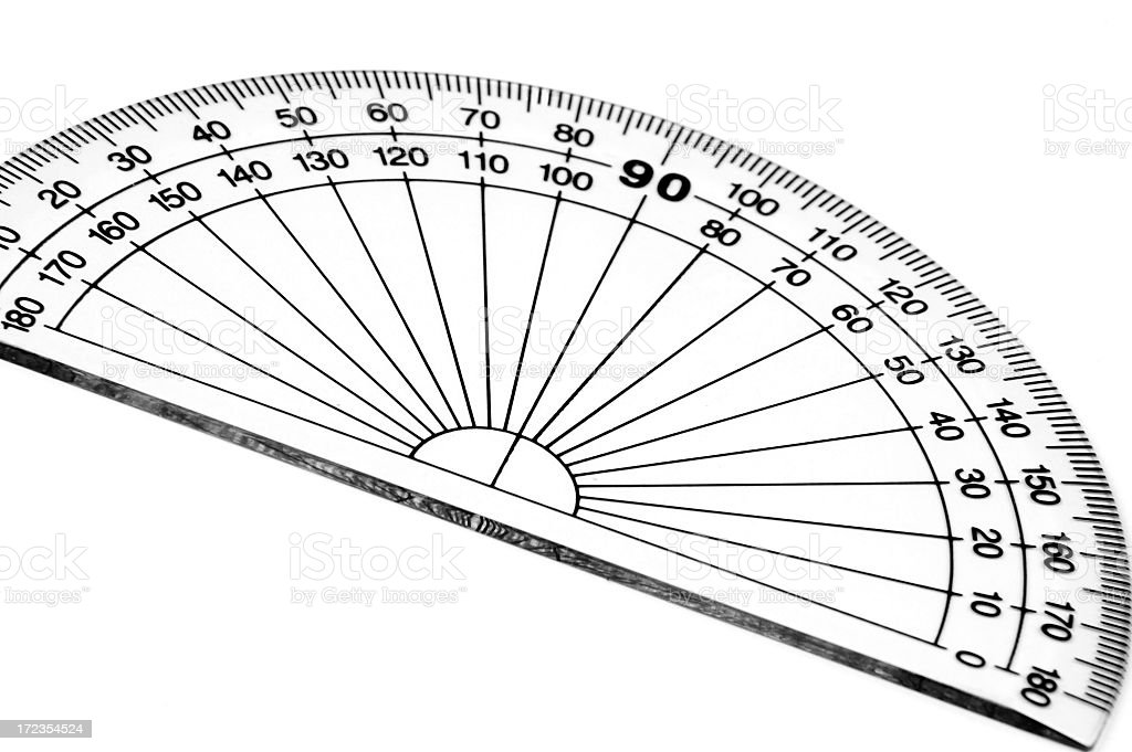 Protractor royalty-free stock photo