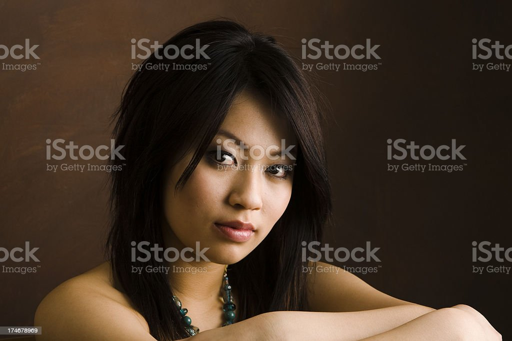 Protrait of a Young Asian Woman royalty-free stock photo
