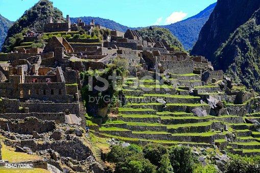 Incan ruins of Machu Picchu.