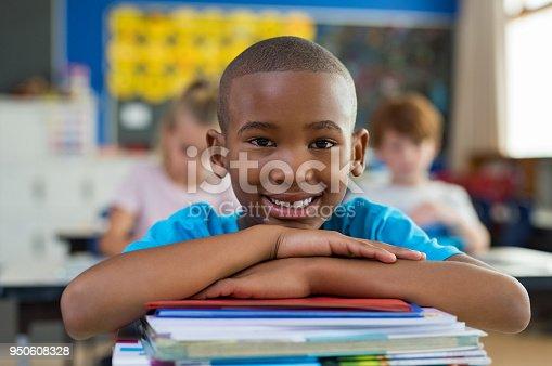 istock Proud african school boy 950608328