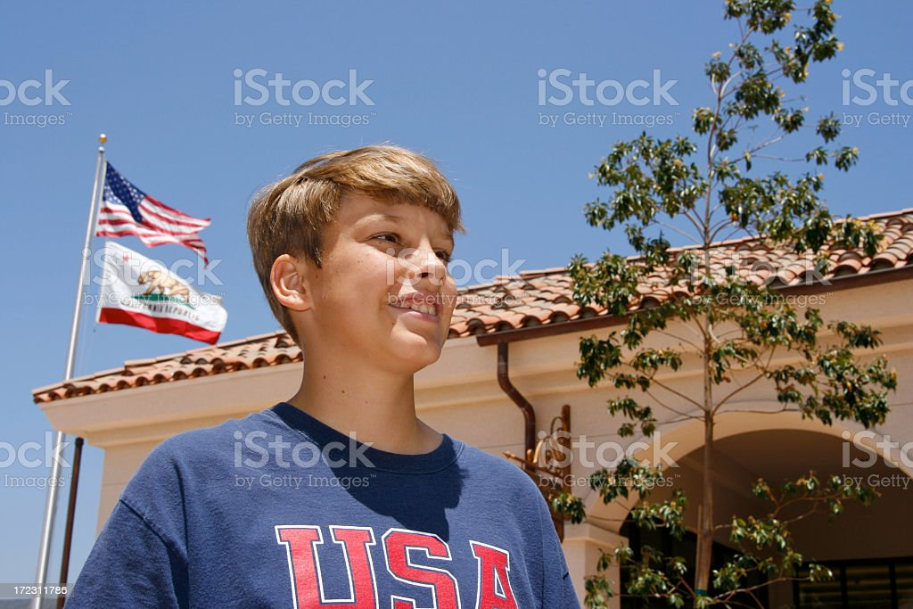 Proud American from California royalty-free stock photo