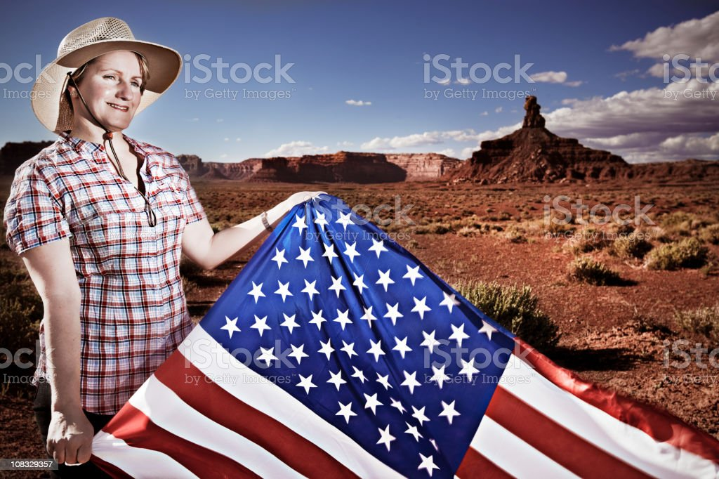 Proud American royalty-free stock photo