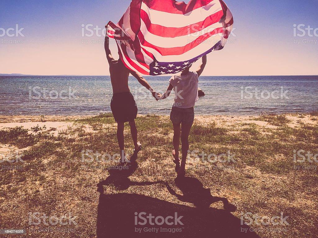 Proud Americans stock photo
