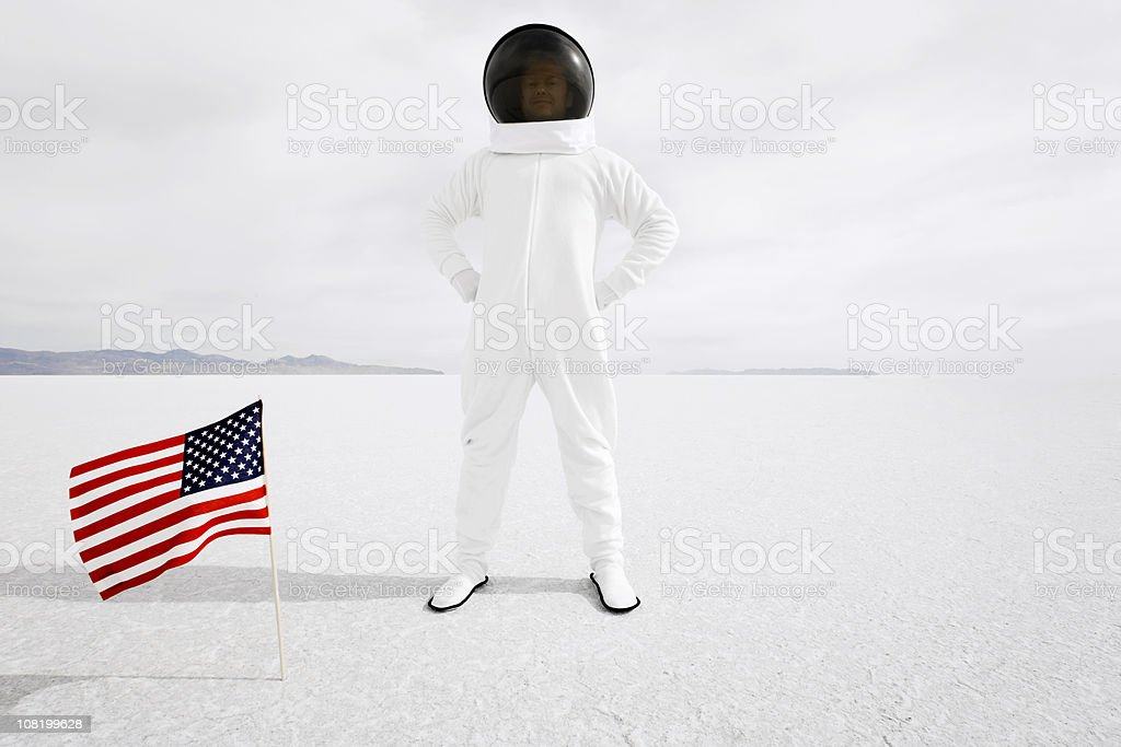Proud Astronaut stock photo