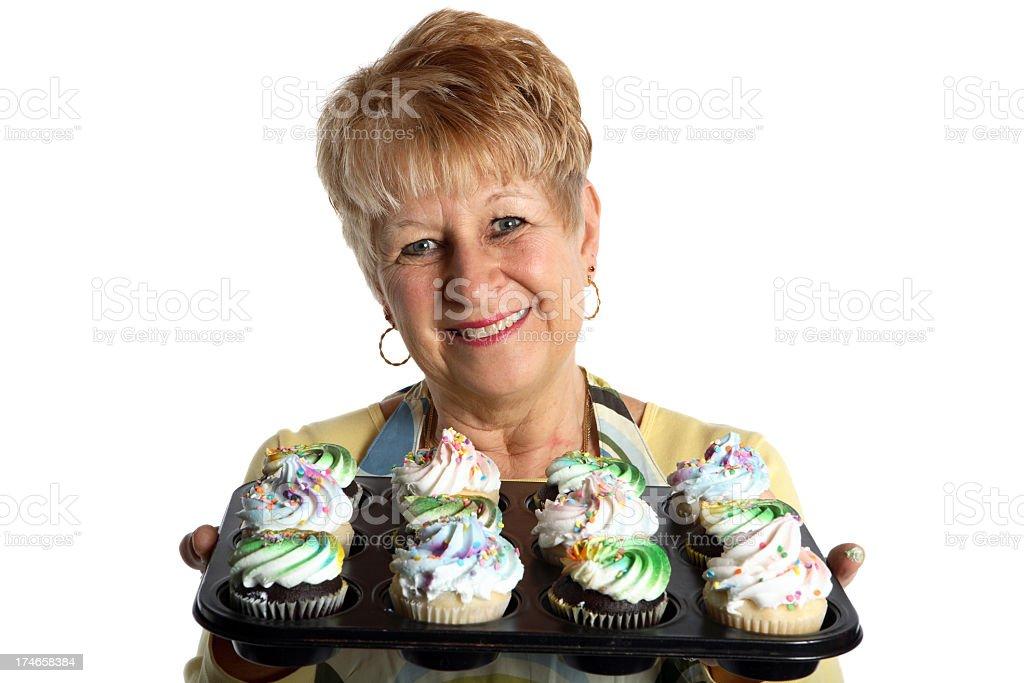 Proud baker. royalty-free stock photo