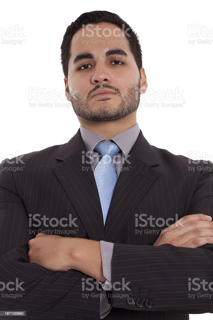 Proud Businessman with arm crossed royalty-free stock photo