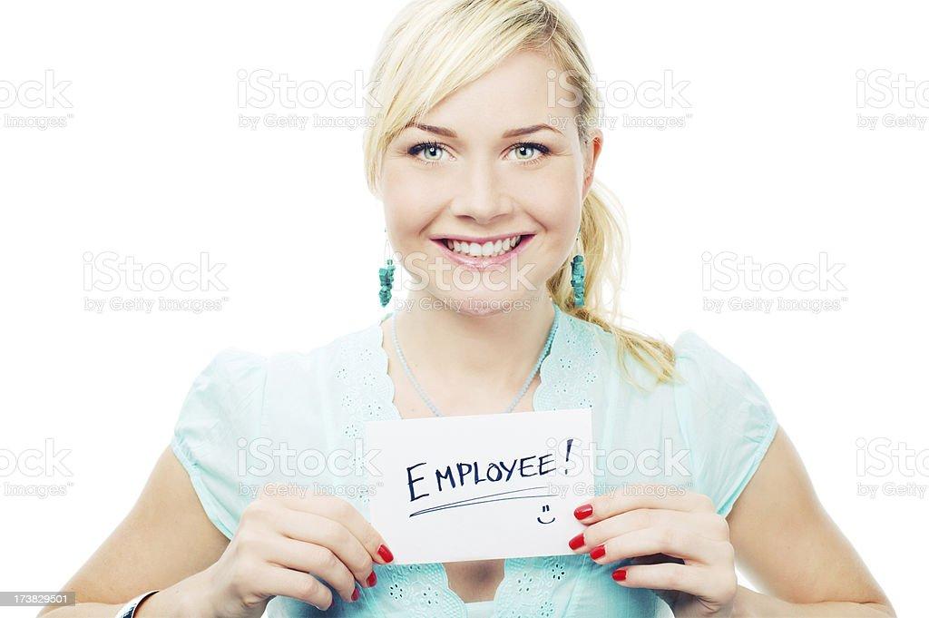 Proud Employee royalty-free stock photo