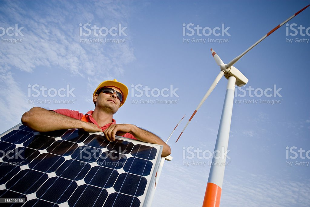 proud engineer royalty-free stock photo