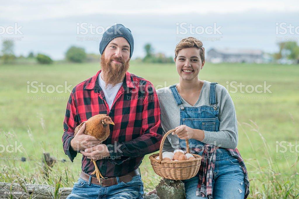Proud Farmers stock photo