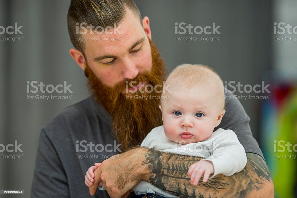 Proud Father stock photo