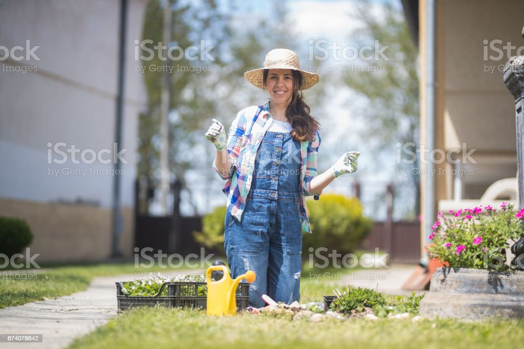 A proud female botanist royalty-free stock photo