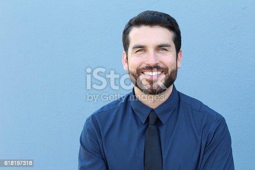 istock Proud Good Lookng Italian Businessman Smiling 618197318