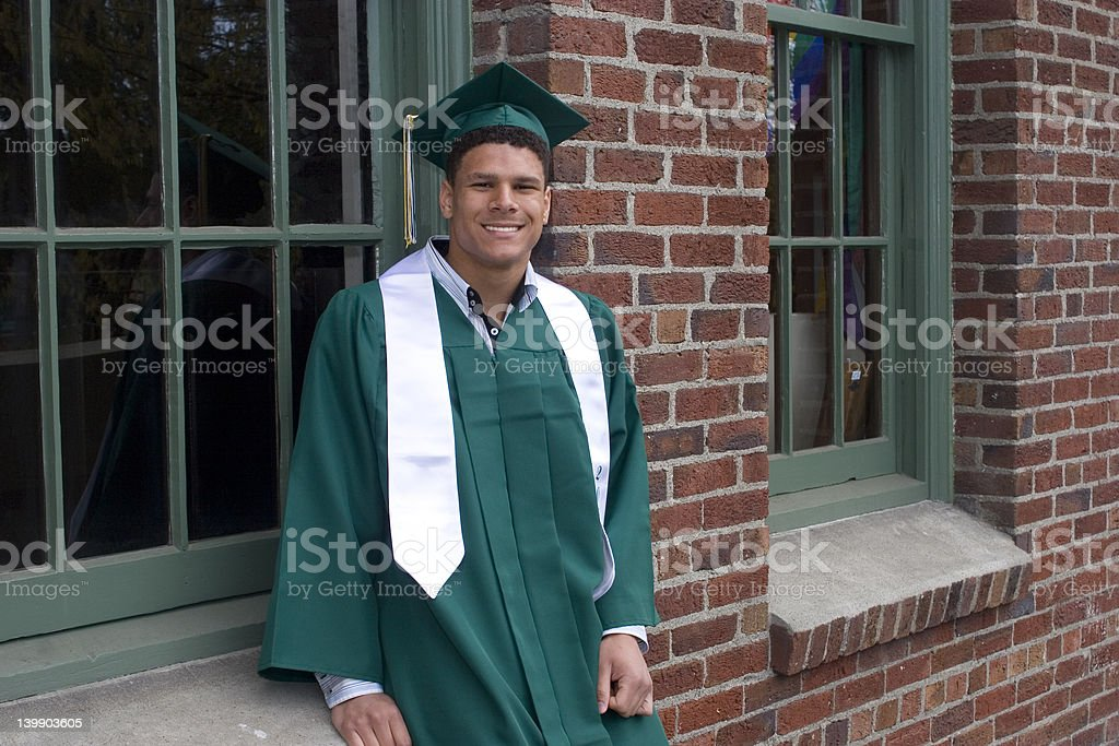 Proud Grad royalty-free stock photo