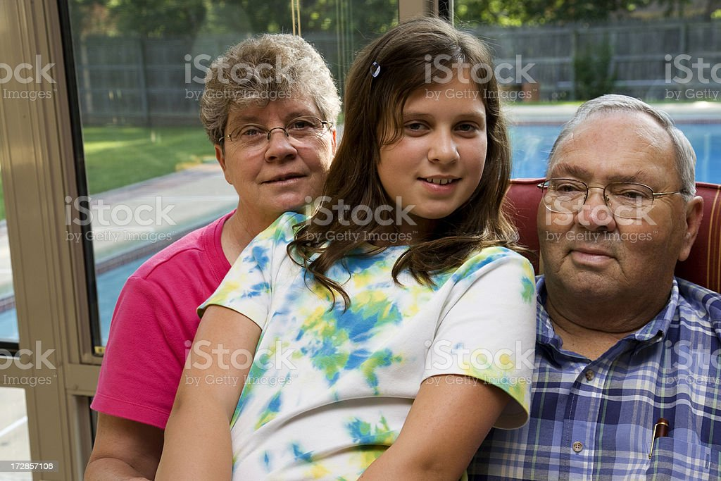 proud grandparents royalty-free stock photo