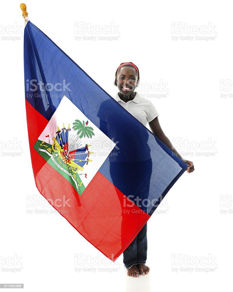 Proud Haitian Tween stock photo