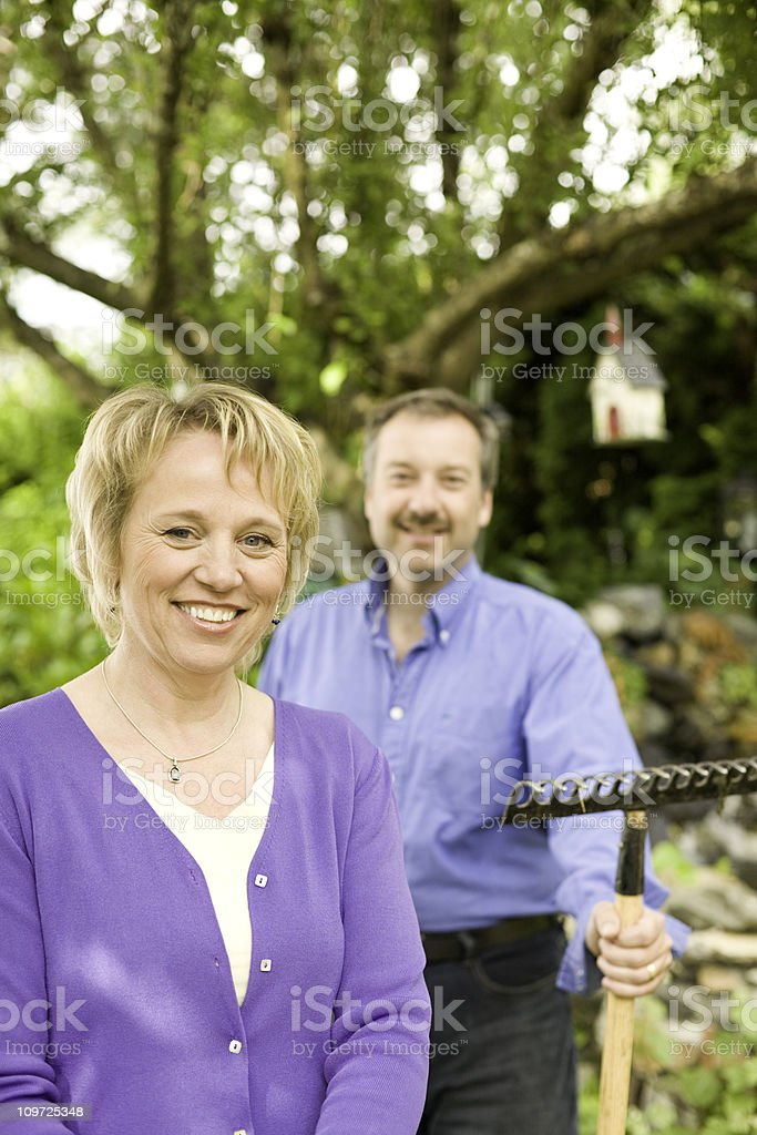 Proud Homeowners royalty-free stock photo