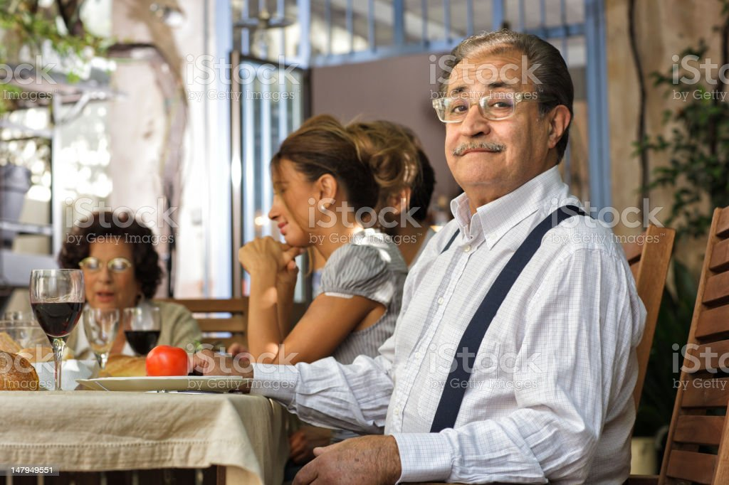 Proud Italian Grandfather Having Lunch With Family Stock Photo Download Image Now Istock