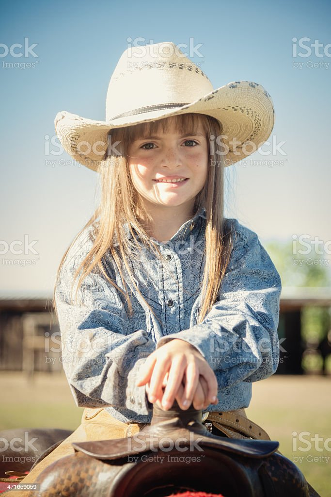 Proud Little Cowgirl royalty-free stock photo