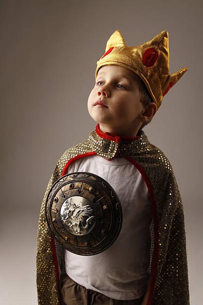 Proud Little King stock photo