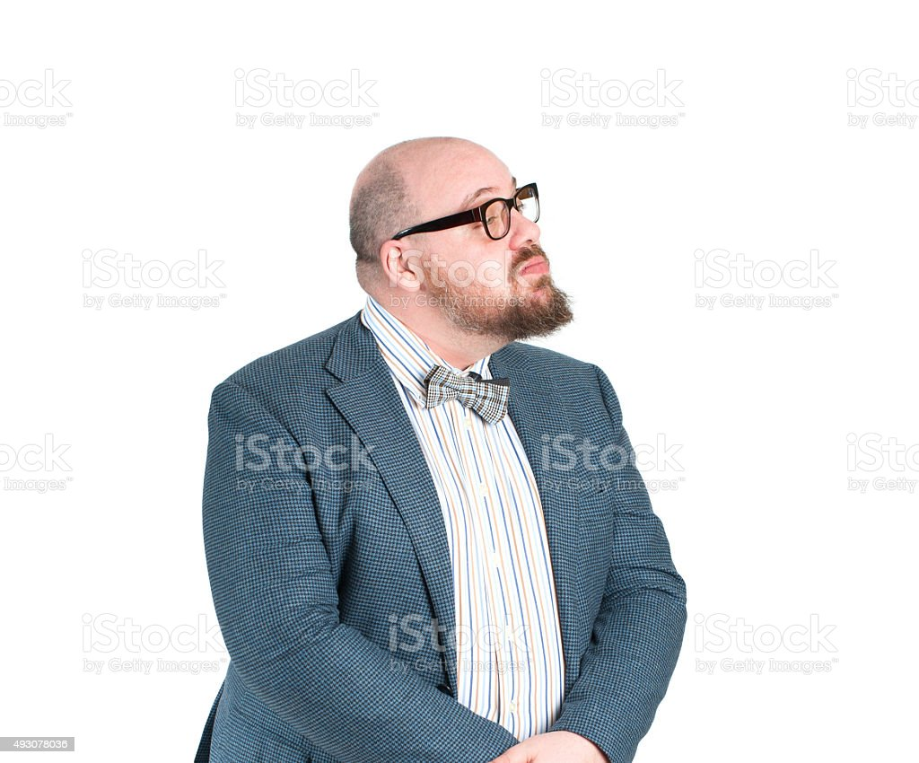 Proud man in a jacket. stock photo