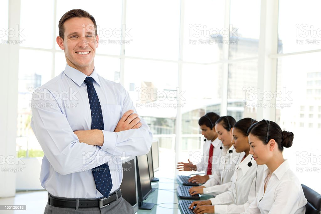 Proud manager stock photo