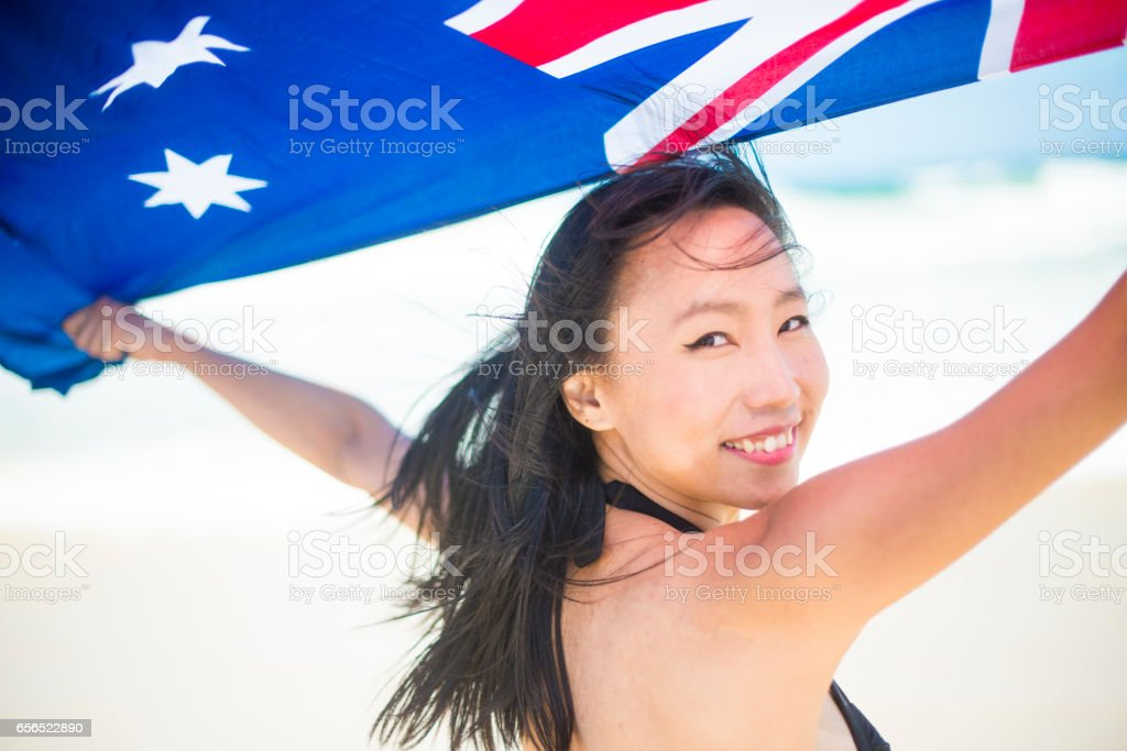 Proud mixed race Australian young woman royalty-free stock photo