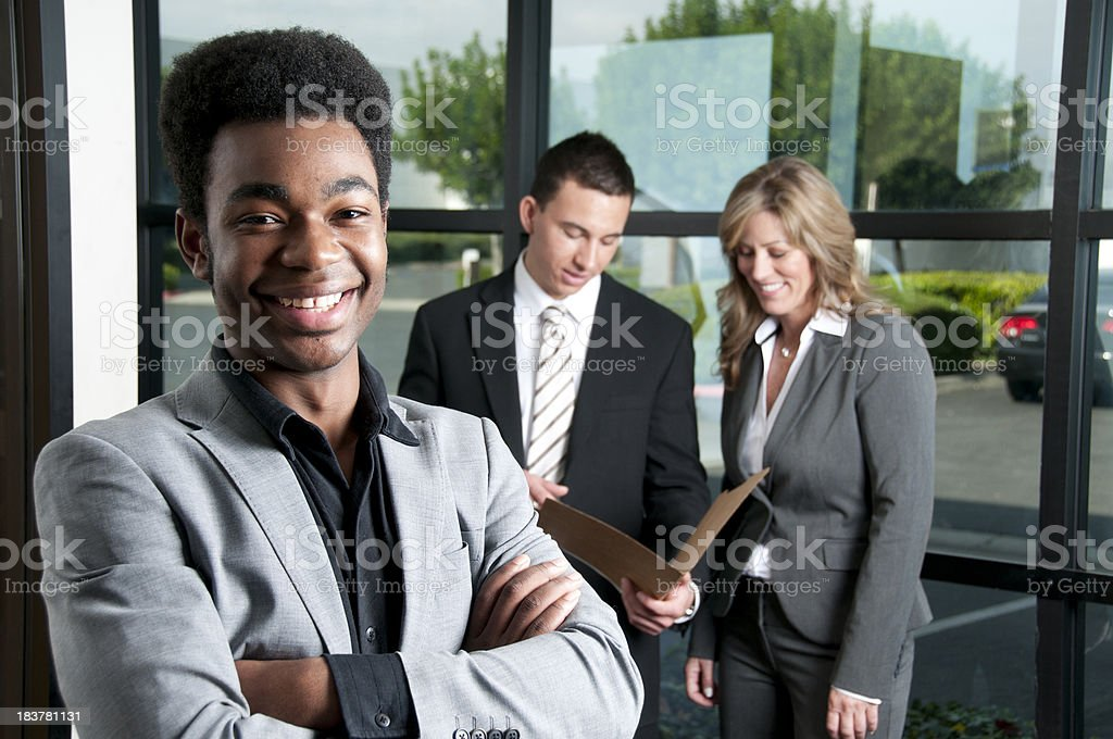 Proud New Employee stock photo