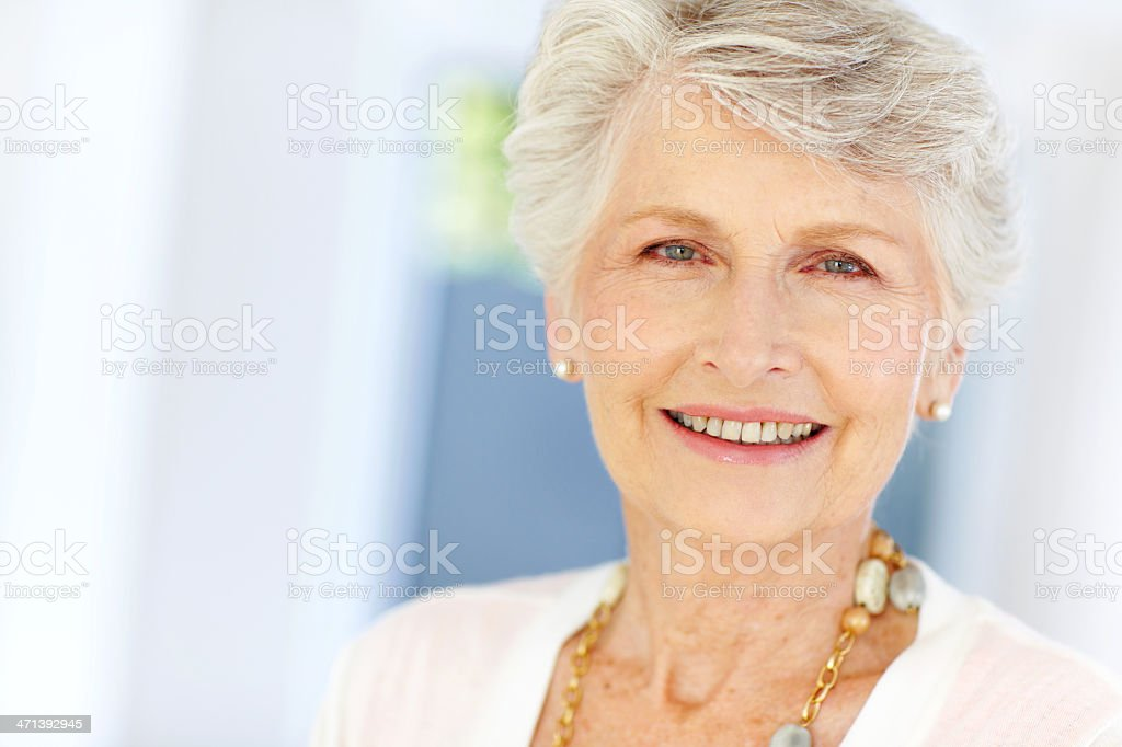 Proud of all she's achieved! - Wisdom & Experience stock photo