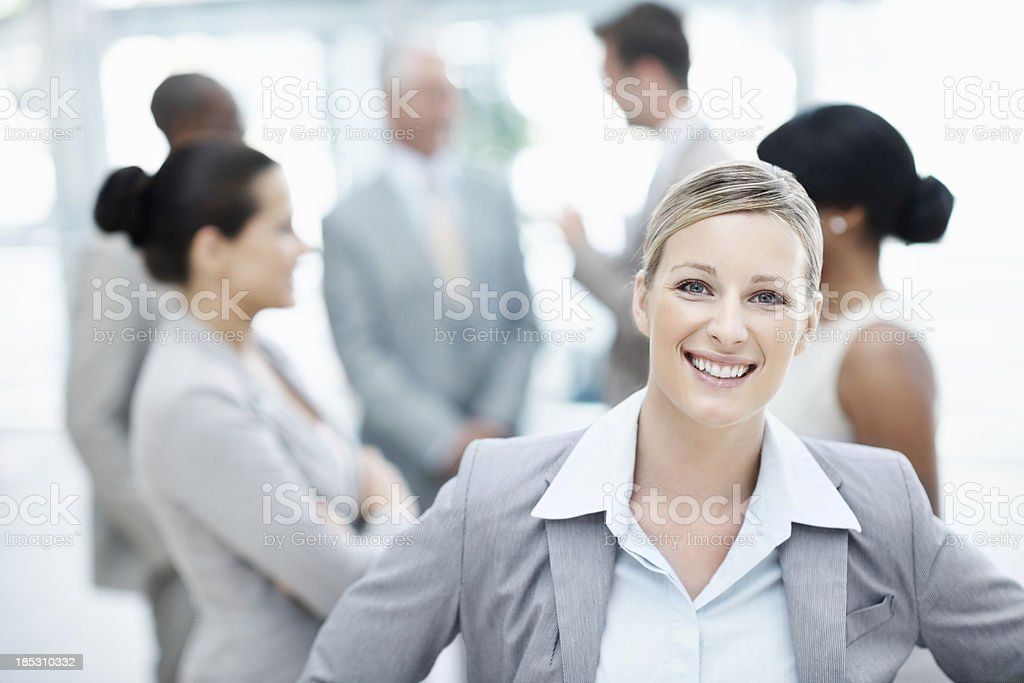 Proud of her achievements stock photo
