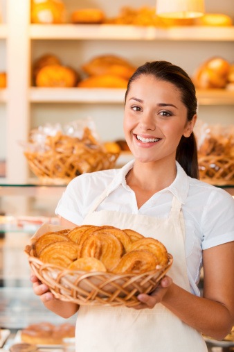 istock Proud of her baked goods. 511864865