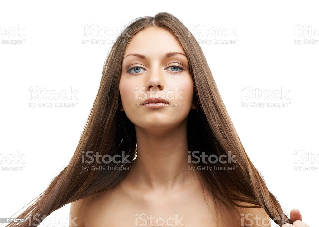 Proud of her hair royalty-free stock photo